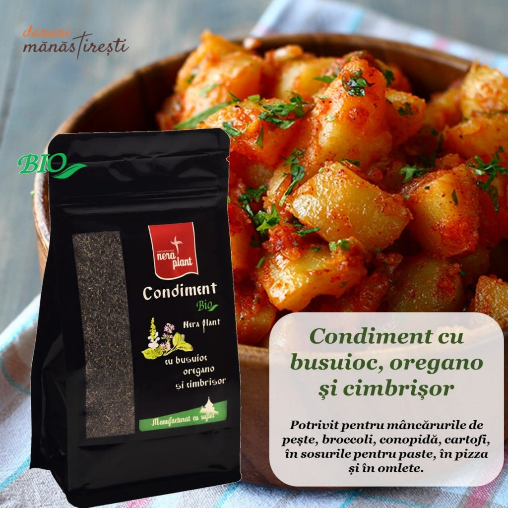 Cartofi țărănești cu ceapă și Condiment-Bio