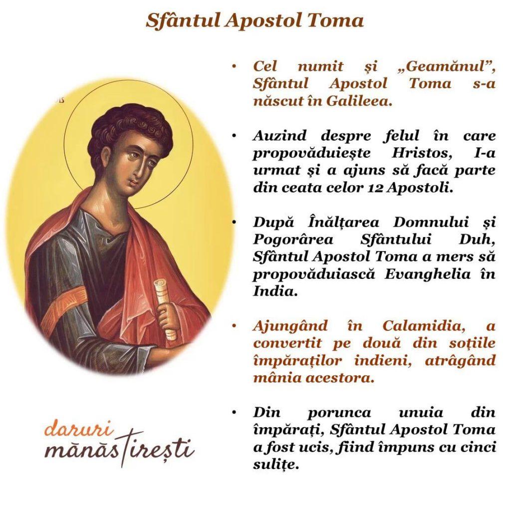 Viaţa şi pătimirea Sfântului Apostol Toma