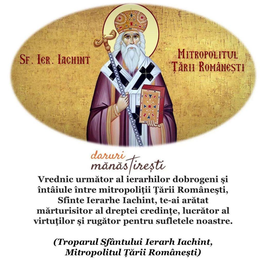 Viața Sfântului Iachint Mitropolitul Țării Românești