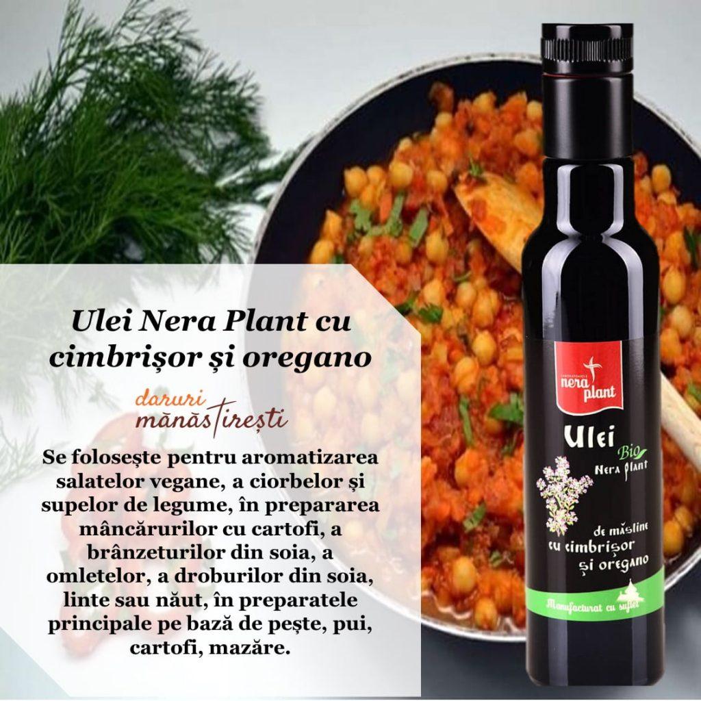 Mâncare de năut cu Ulei-cimbrișor-oregano