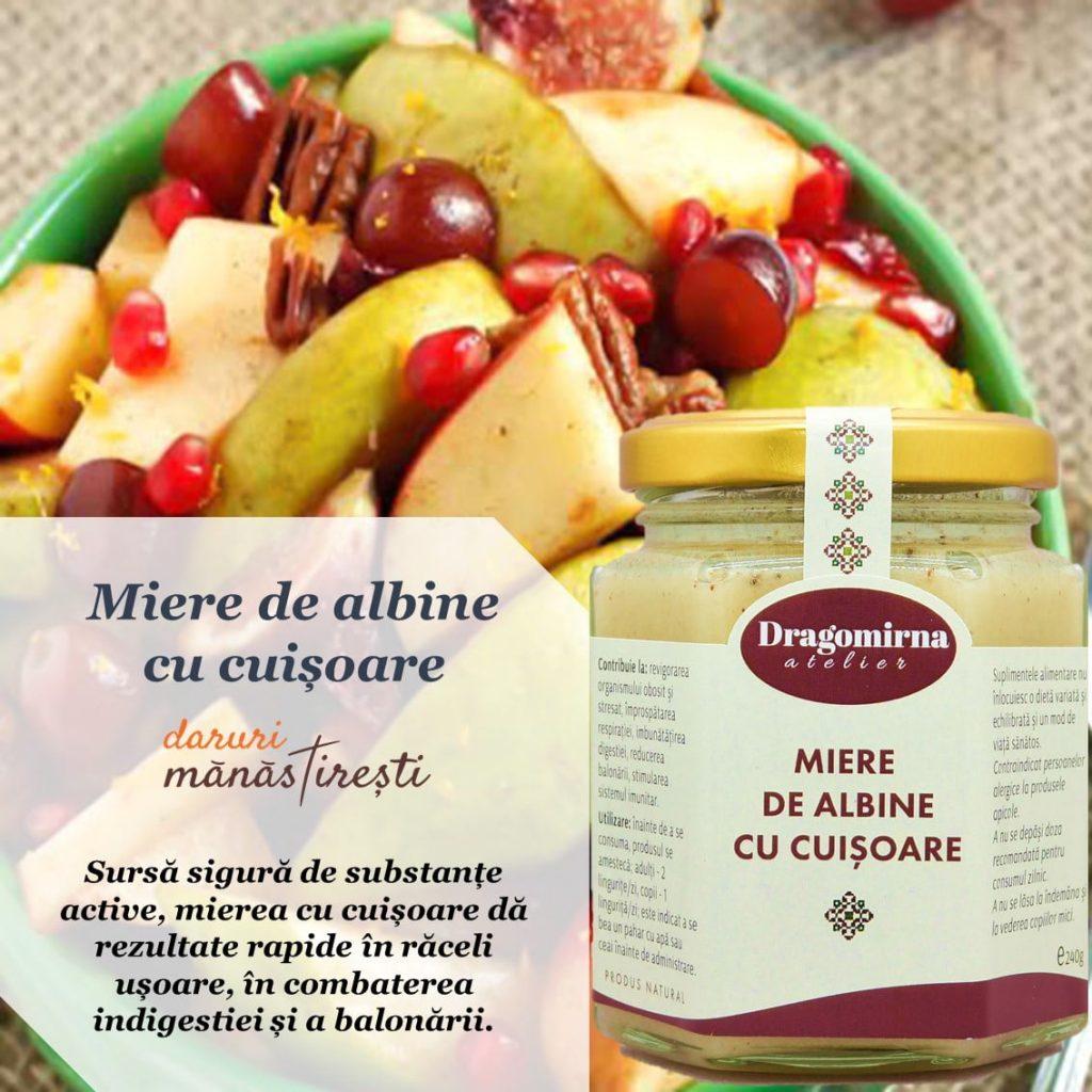 Salată cu fructe de toamnă-Miere-albine-cuișoare