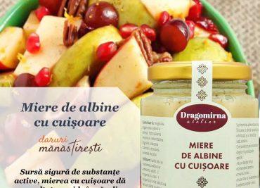 Salată fructe și Miere cu cuișoare