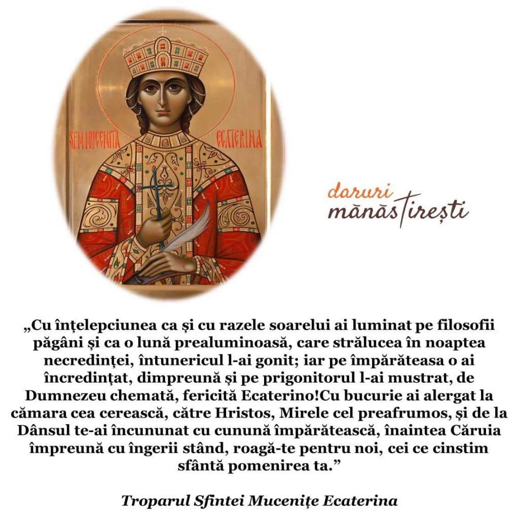 Sfânta Muceniță Ecaterina - 25 noiembrie
