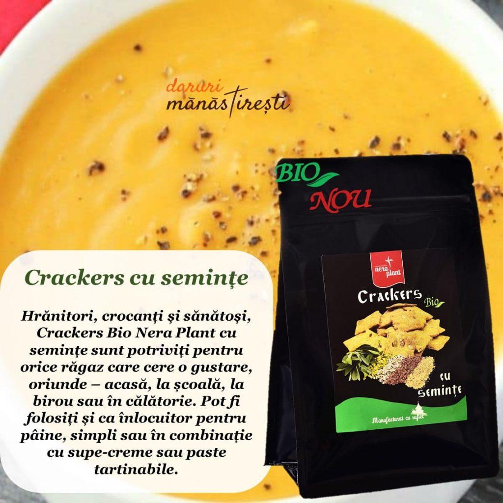 Supă cremă de linte și Crackers-Bio