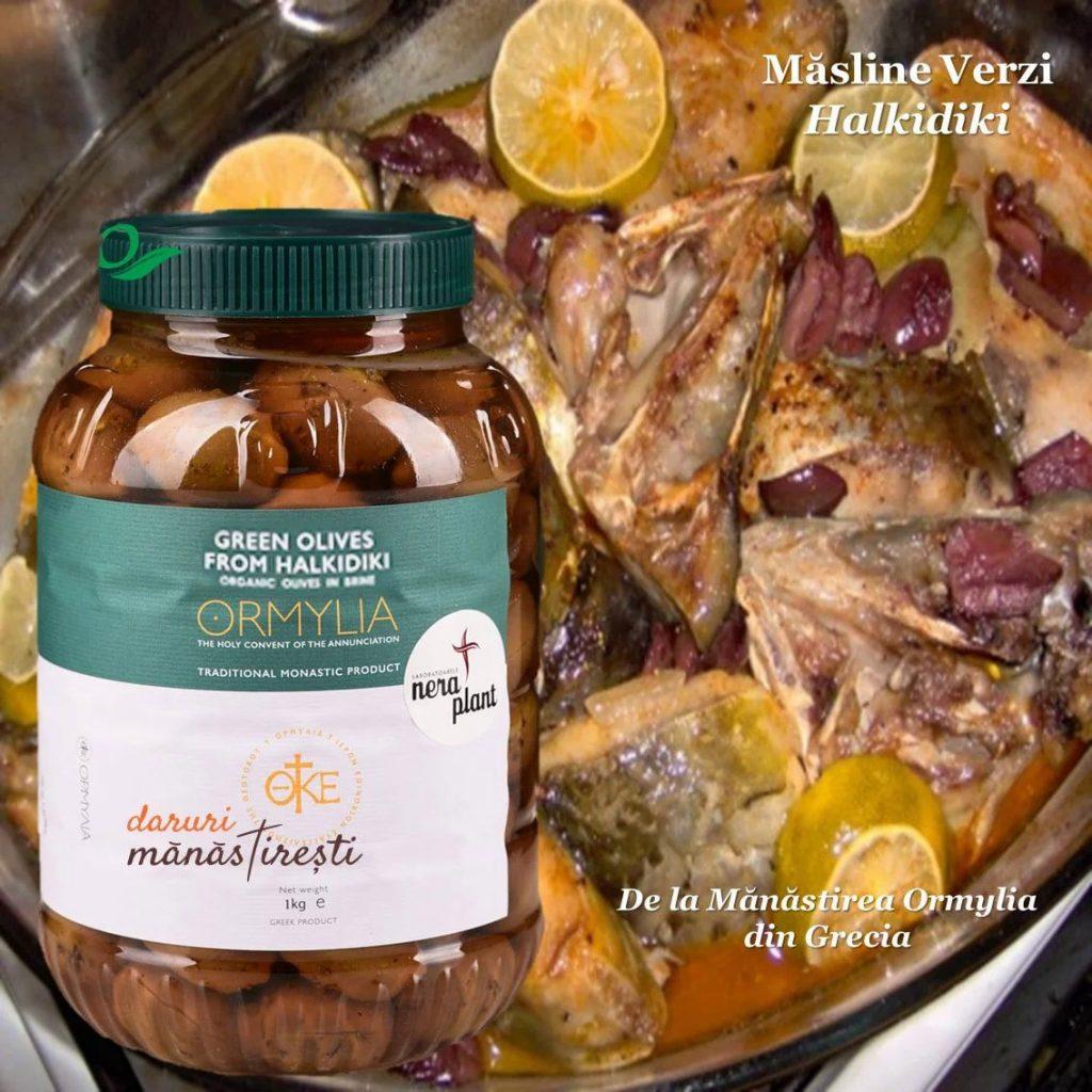 Pește la cuptor cu Măsline verzi
