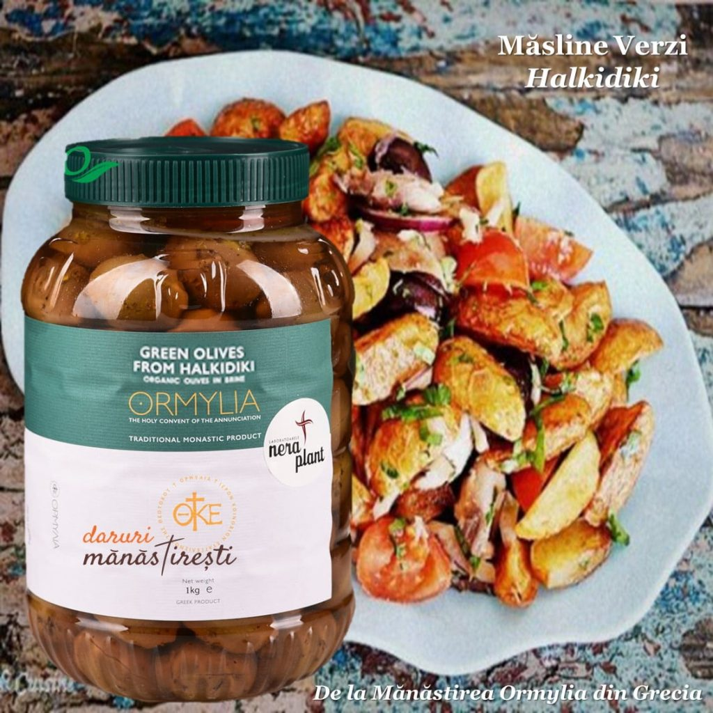 Salata cu cartofi și Măsline-verzi-Halkidiki