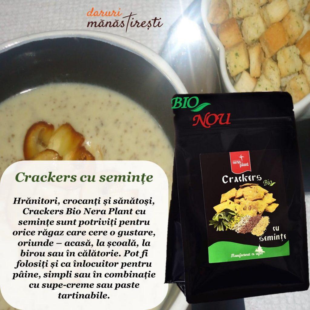 Supă cremă de post-ciuperci Crackers-Bio