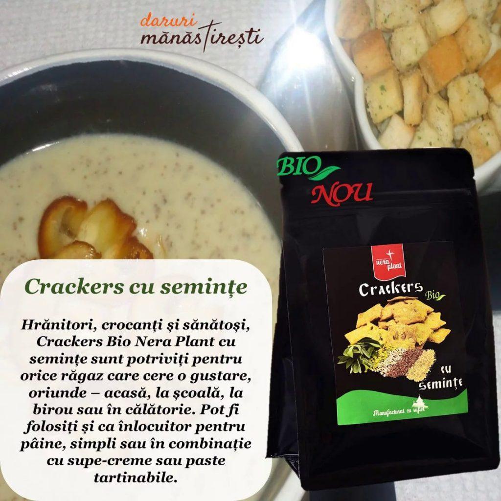 Supă cremă cu ciuperci și Crackers