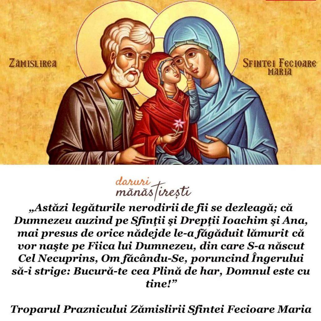Zămislirea Sfintei Fecioare Maria 09 decembrie