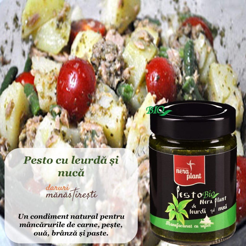 Salată de ton-cartofi-fasole și Pesto-leurdă-nucă