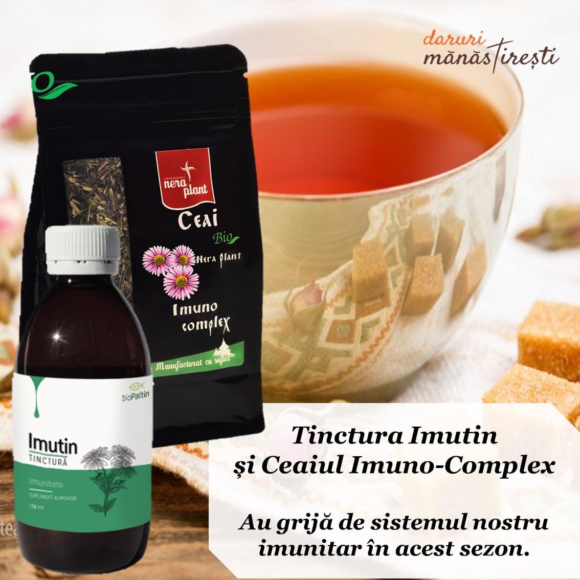 Ceai pentru imunitate cu tinctură Imutin