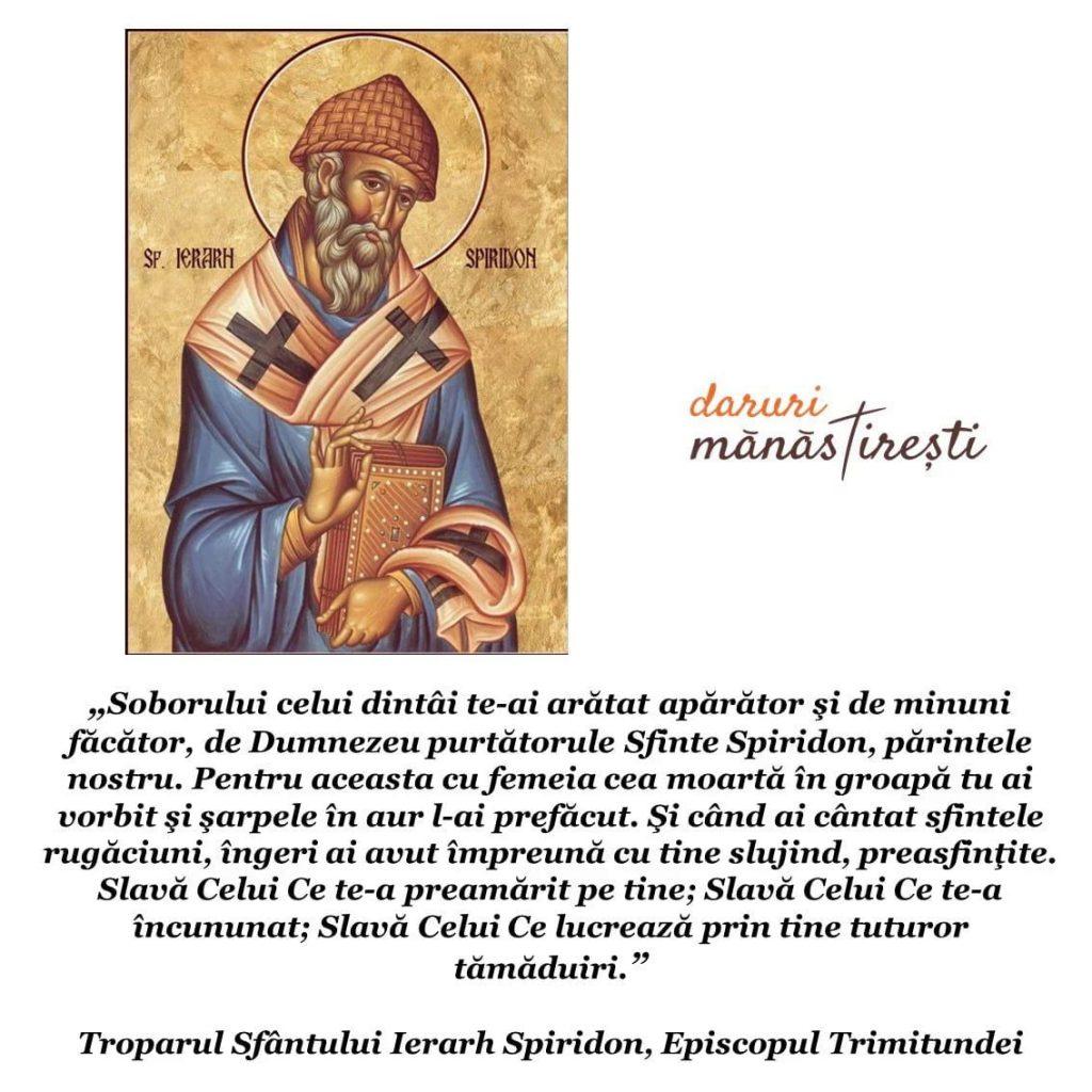 Viața Sfântului Ierarh Spiridon episcopul Trimitundei
