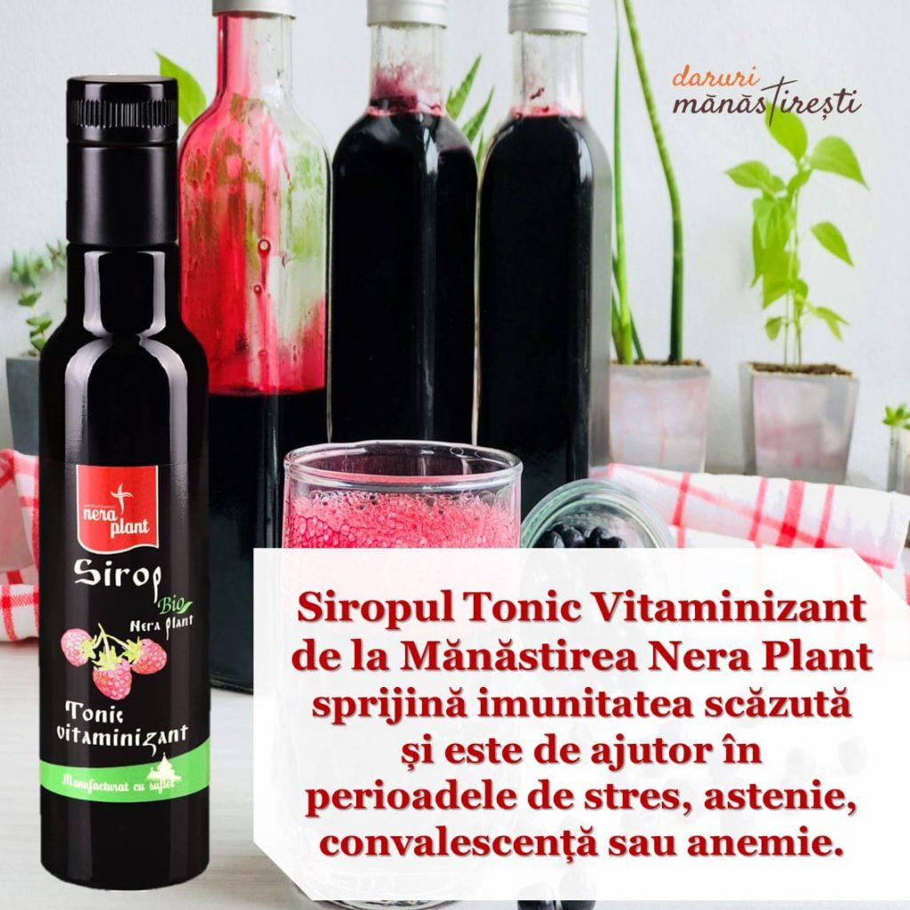 Suc natural cu Sirop Tonic vitaminizant