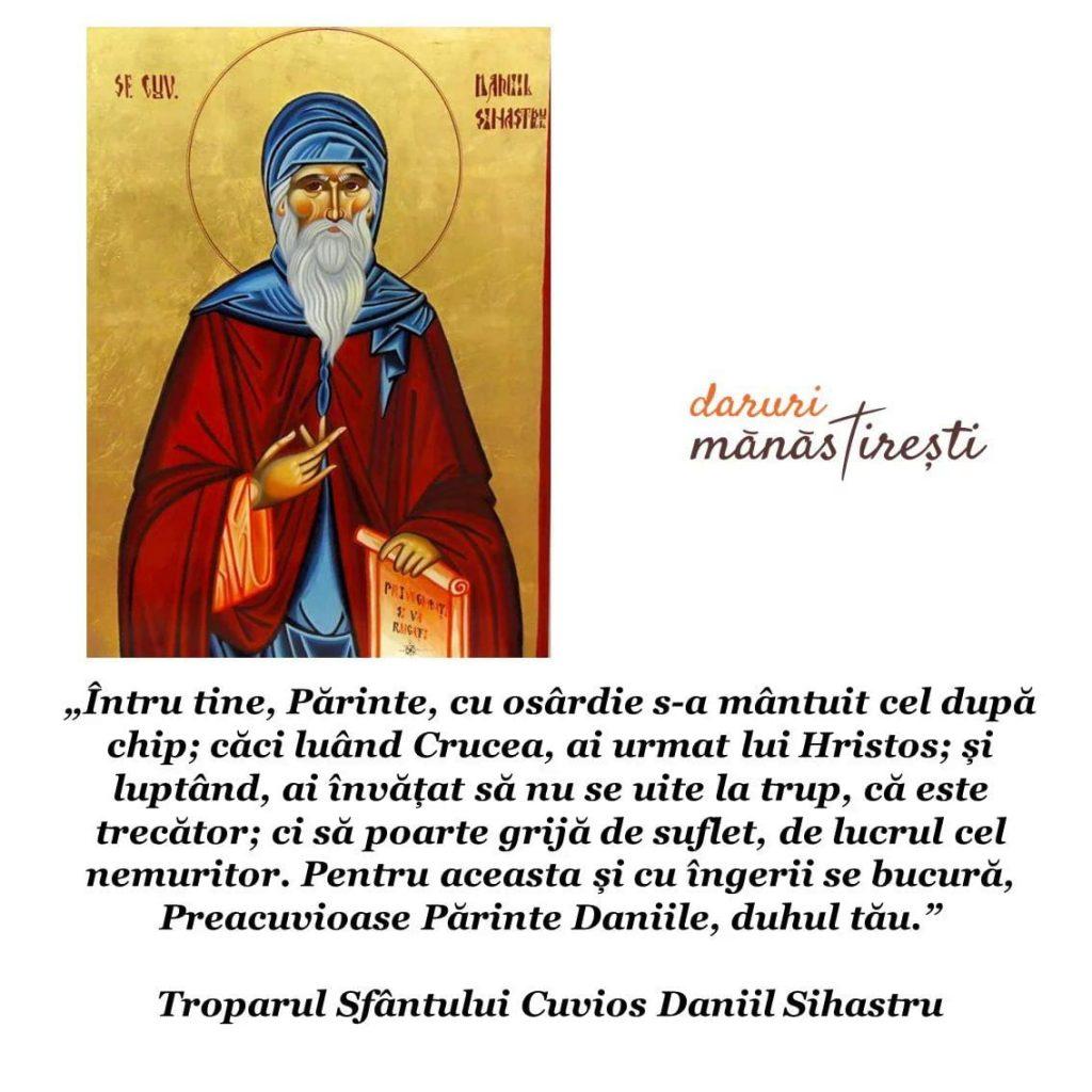Viața Sfântului Cuvios Daniil Sihastru