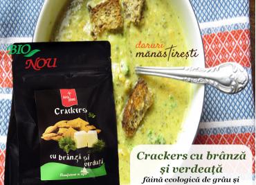 Supă cremă de brocoli cu Crackers