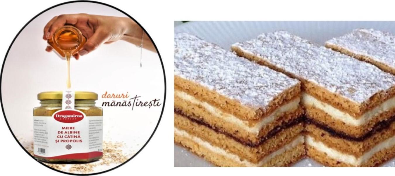 Prăjitură cu miere de albine