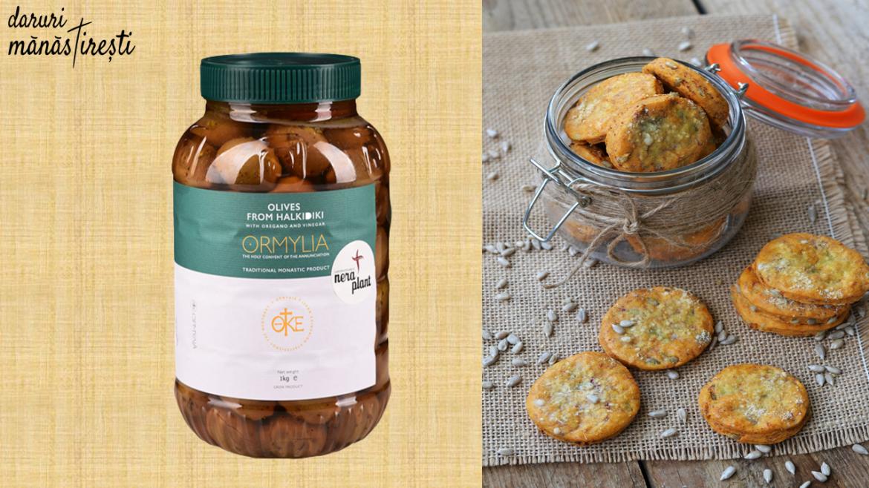 Biscuiți de post cu măsline verzi